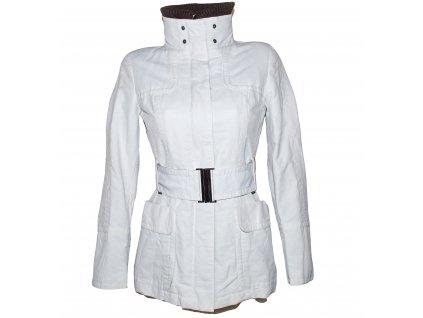 Bavlněný dámský bílý kabát s páskem ZARA