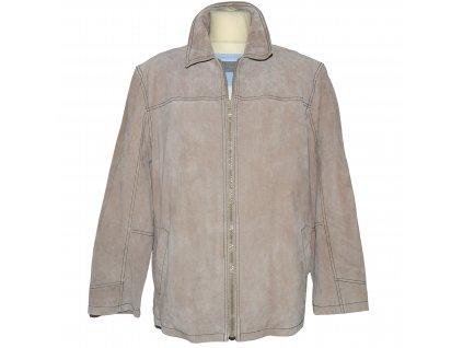 KOŽENÁ pánská béžová broušená bunda Steve XL