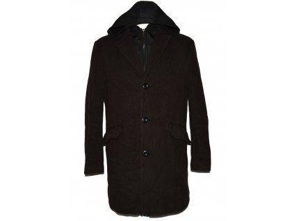 Vlněný (95%) pánský hnědý kabát C&A 50
