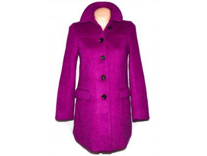 Vlněný dámský fialový kabát H&M 38