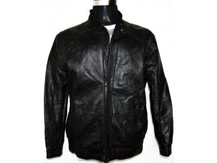 KOŽENÁ pánská měkká černá bunda vel. L