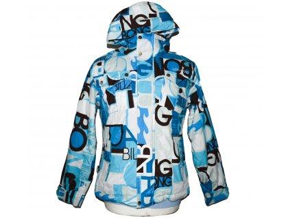 Lyžařská pánská modrobílá bunda s kapucí BILLABONG S