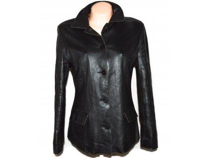 KOŽENÝ dámský černý měkký zateplený kabátek - sako CERO