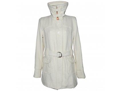 Dámský bílý kabát s páskem Philip Russel XL