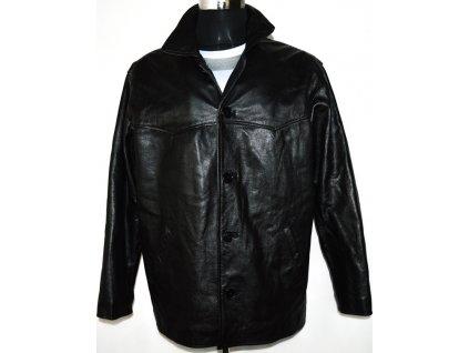 KOŽENÁ pánská černá zateplená bunda MDK XL