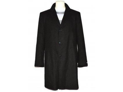 Vlněný (70%) pánský hnědý zimní kabát YORN M