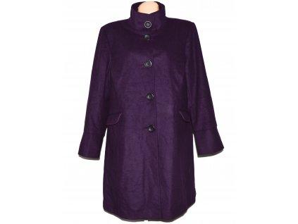Vlněný (70%) dámský fialový kabát 22/52 - XXXL 2