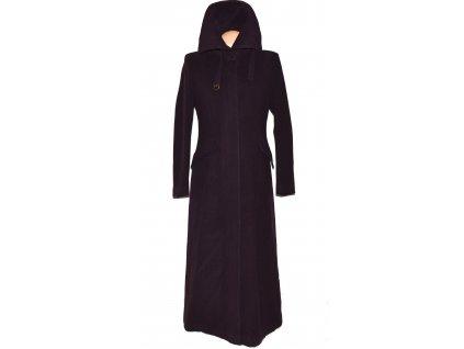 Vlněný (75%) dámský dlouhý fialový kabát Ennia Morri 40