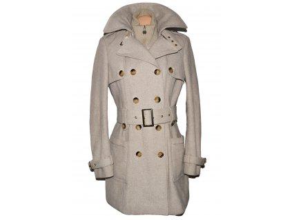 Vlněný dámský béžový kabát C&A 14/40
