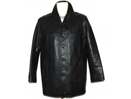 KOŽENÁ pánská černá zateplená bunda M/L