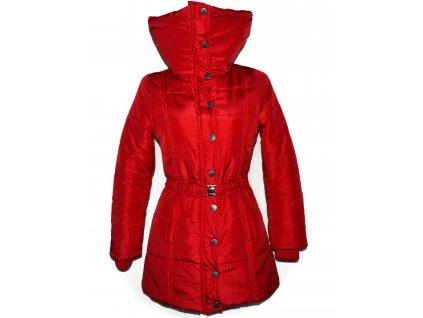 Dámský červený prošívaný kabát s páskem White Mountains M