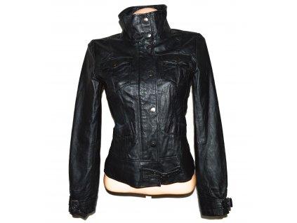 KOŽENÁ dámská černá měkká bunda Costa Blanca S