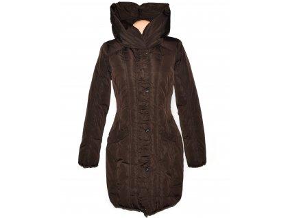 Péřový dámský hnědý prošívaný kabát s kapucí TOM TAILOR M