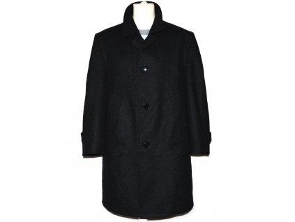 Vlněný (80%) pánský šedočerný kabát Himalaya XL