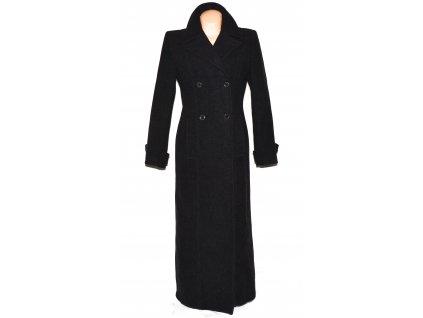 Vlněný (70%) dámský dlouhý šedý kabát (vlna, kašmír) L