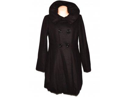 Vlněný (55%) dámský hnědý kabát Zabaione 40