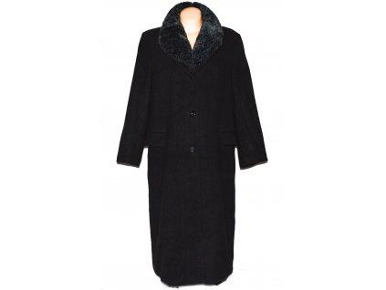 Vlněný dámský dlouhý černý kabát C&A XXXL