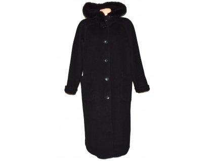 Vlněný (70%) dámský dlouhý černý kabát s kapucí Paul Delvaux (vlna,kašmír) 18/46