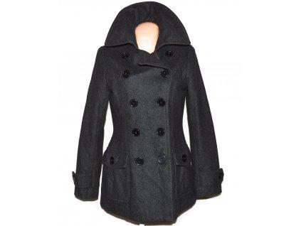 Vlněný (60%) dámský šedý zateplený kabát H&M 40