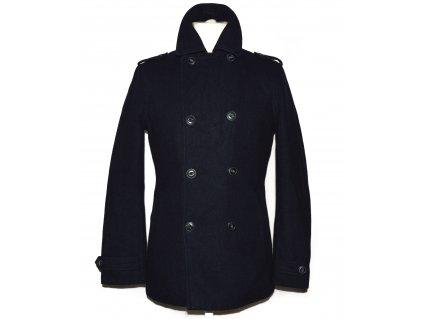 Vlněný pánský modrý zateplený kabát WE S