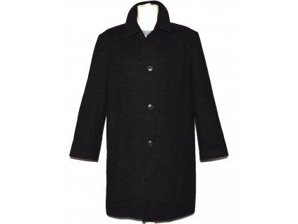 Vlněný (70%) pánský černý kabát Daniel Moore (vlna, kašmír) XL/52