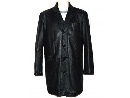 KOŽENÝ pánský černý měkký kabát 50