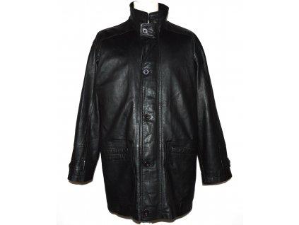 KOŽENÁ pánská černá měkká zateplená bunda L