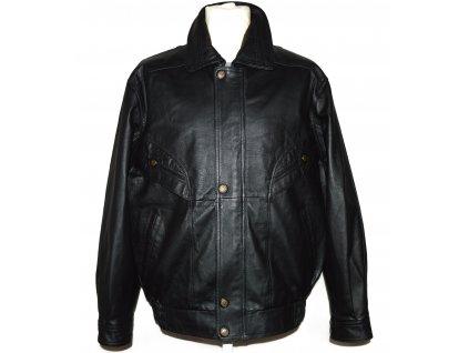KOŽENÁ pánská černá měkká bunda MORENA L