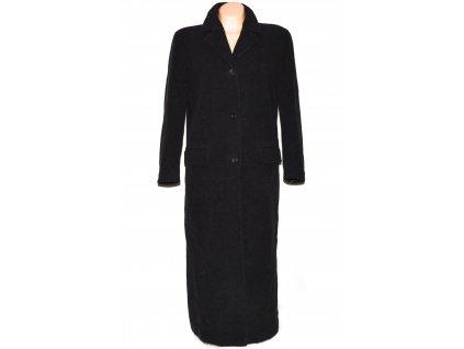 Vlněný (70%) dámský dlouhý šedočerný kabát Michele Boyard (vlna, kašmír) 44