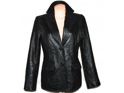 KOŽENÉ dámské černé měkké sako LINDEX 40