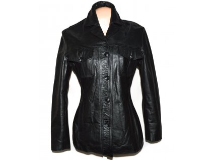 KOŽENÁ dámská černá bunda Montgomery S