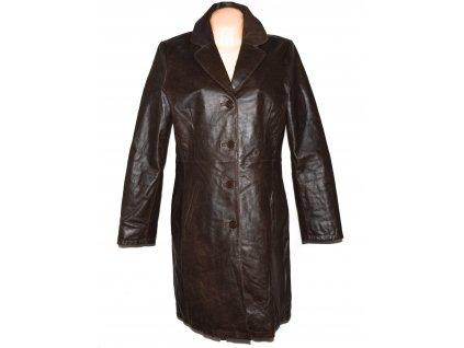 KOŽENÝ dámský hnědý zateplený kabát Rhythms 42 2