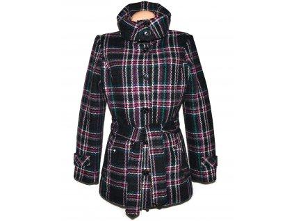 Vlněný (60%) dámský barevný kabát s páskem ESPRIT XL