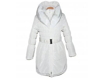 Dámský bílý prošívaný kabát s páskemm a límcem Resplendent XL