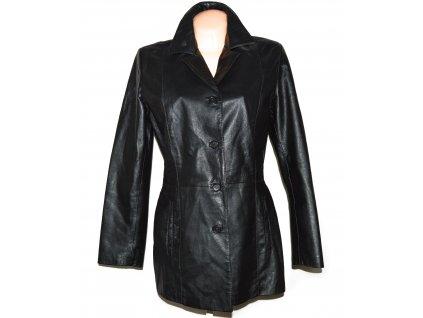 KOŽENÝ dámský černý měkký kabát Firenze L