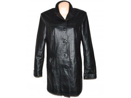 KOŽENÝ dámský černý měkký kabát GOSS L