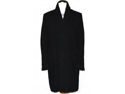 Vlněný (70%) pánský černý kabát BERNHARDT (vlna, kašmír) M/L