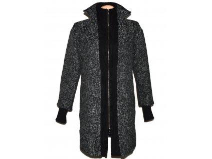 Dámský šedočerný kabát na zip ASOS 10/38