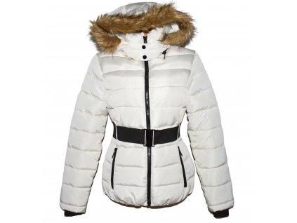 Dámský prošívaný kabát s páskem a kapucí CALLIOPE L