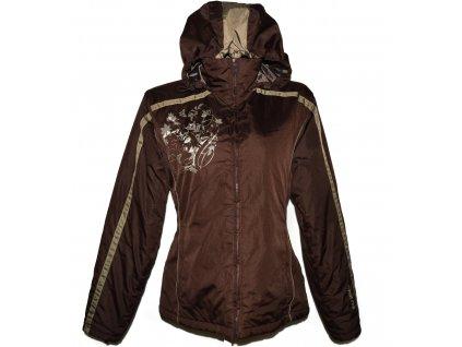 Lyžařská dámská hnědá bunda s kapucí ALPINE PRO M