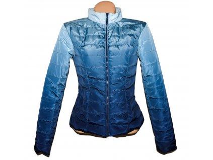 Dámská prošívaná modrá tónovaná bunda na zip BPC 10/36