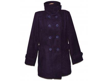 Vlněný (75%) dámský fialový kabát XXL