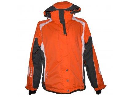 Lyžařská dámská oranžová bunda s kapucí HUSKY L