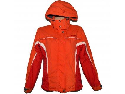 Lyžařská dámská oranžová bunda s kapucí ALPINE PRO S