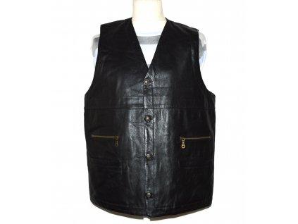 KOŽENÁ pánská černá zateplená měkká vesta Blue Steel XXL