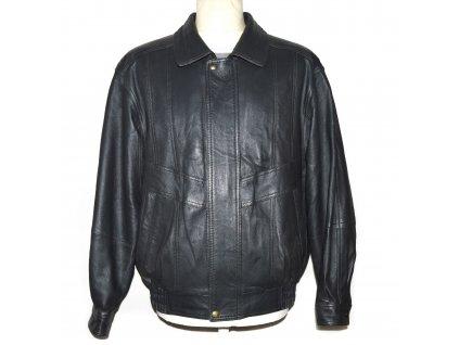 KOŽENÁ pánská šedá měkká bunda na zip 50