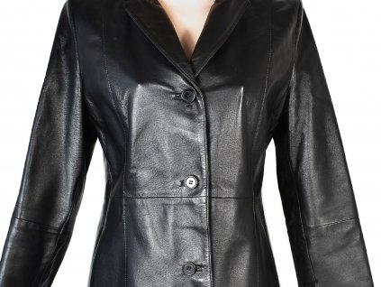 KOŽENÝ dámský černý měkký kabát CALYPSO S, L, XL
