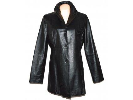 KOŽENÝ dámský černý měkký kabát CALYPSO XL