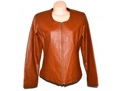 KOŽENÁ dámská cihlová bunda na zip Classic Woman 44