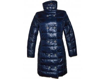 Péřový dámský modrý prošívaný kabát Dolomite S